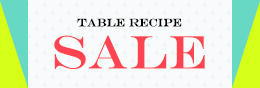 TABLE RECIPE SALE